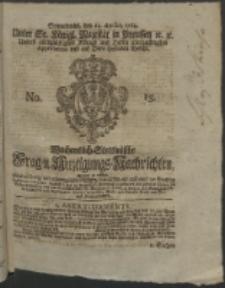 Wochentlich-Stettinische Frag- und Anzeigungs-Nachrichten. 1764 No. 15 + Anhang