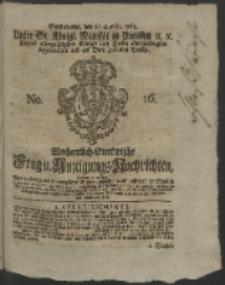 Wochentlich-Stettinische Frag- und Anzeigungs-Nachrichten. 1764 No. 16 + Anhang