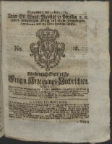 Wochentlich-Stettinische Frag- und Anzeigungs-Nachrichten. 1764 No. 18 + Anhang