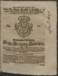 Wochentlich-Stettinische Frag- und Anzeigungs-Nachrichten. 1764 No. 20 + Anhang