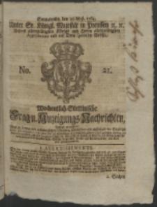 Wochentlich-Stettinische Frag- und Anzeigungs-Nachrichten. 1764 No. 21 + Anhang