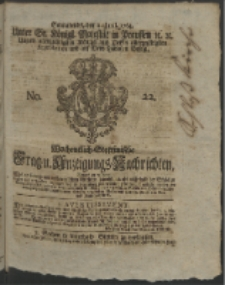 Wochentlich-Stettinische Frag- und Anzeigungs-Nachrichten. 1764 No. 22 + Anhang