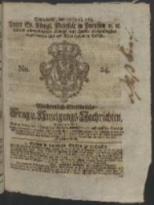 Wochentlich-Stettinische Frag- und Anzeigungs-Nachrichten. 1764 No. 24 + Anhang