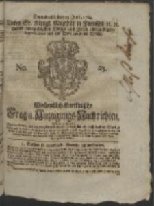 Wochentlich-Stettinische Frag- und Anzeigungs-Nachrichten. 1764 No. 25 + Anhang