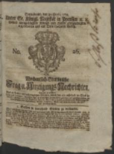 Wochentlich-Stettinische Frag- und Anzeigungs-Nachrichten. 1764 No. 26 + Anhang