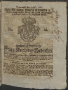 Wochentlich-Stettinische Frag- und Anzeigungs-Nchrichten. 1764 No. 28 + Anhang