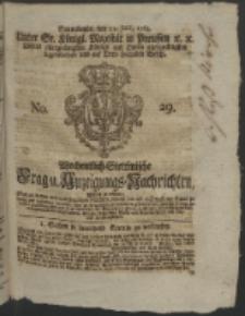 Wochentlich-Stettinische Frag- und Anzeigungs-Nachrichten. 1764 No. 29 + Anhang