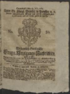 Wochentlich-Stettinische Frag- und Anzeigungs-Nachrichten. 1764 No. 30 + Anhang
