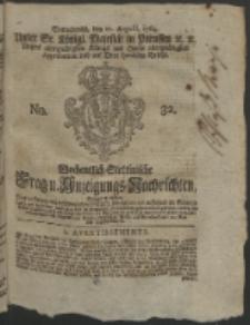 Wochentlich-Stettinische Frag- und Anzeigungs-Nachrichten. 1764 No. 32 + Anhang