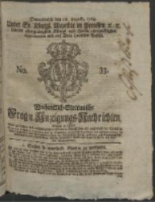 Wochentlich-Stettinische Frag- und Anzeigungs-Nachrichten. 1764 No. 33 + Anhang