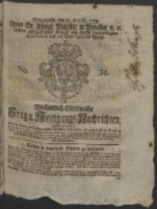Wochentlich-Stettinische Frag- und Anzeigungs-Nachrichten. 1764 No. 34 + Anhang