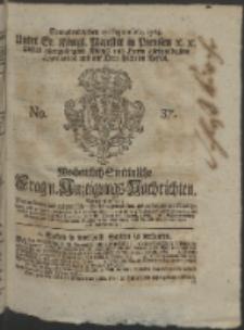 Wochentlich-Stettinische Frag- und Anzeigungs-Nachrichten. 1764 No. 37 + Anhang
