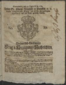 Wochentlich-Stettinische Frag- und Anzeigungs-Nachrichten. 1764 No. 39 + Anhang