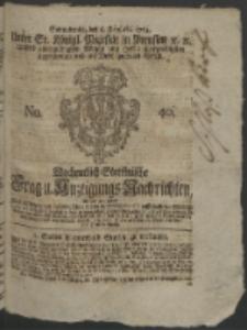 Wochentlich-Stettinische Frag- und Anzeigungs-Nachrichten. 1764 No. 40 + Anhang