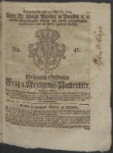 Wochentlich-Stettinische Frag- und Anzeigungs-Nachrichten. 1764 No. 41 + Anhang