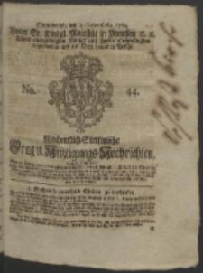 Wochentlich-Stettinische Frag- und Anzeigungs-Nachrichten. 1764 No. 44 + Anhang
