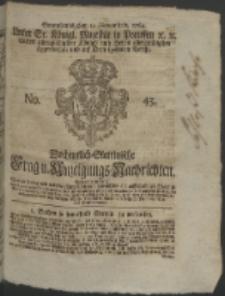 Wochentlich-Stettinische Frag- und Anzeigungs-Nachrichten. 1764 No. 45 + Anhang