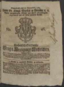Wochentlich-Stettinische Frag- und Anzeigungs-Nachrichten. 1764 No. 46 + Anhang