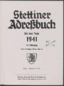 Stettiner Adressbuch : unter Benutzung amtlicher Quellen 1941