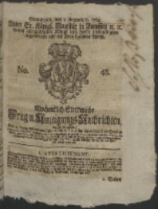 Wochentlich-Stettinische Frag- und Anzeigungs-Nachrichten. 1764 No. 48 + Anhang