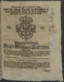 Wochentlich-Stettinische Frag- und Anzeigungs-Nachrichten. 1764 No. 49 + Anhang