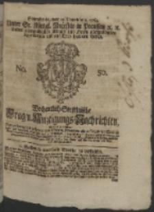 Wochentlich-Stettinische Frag- und Anzeigungs-Nachrichten. 1764 No. 50 + Anhang