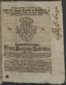 Wochentlich-Stettinische Frag- und Anzeigungs-Nachrichten. 1764 No. 51 + Anhang