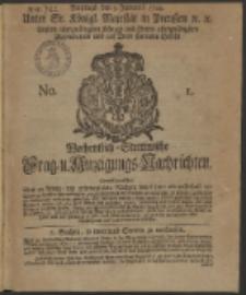 Wochentlich-Stettinische Frag- und Anzeigungs-Nachrichten. 1744 No. 1