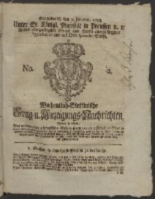 Wochentlich-Stettinische Frag- und Anzeigungs-Nachrichten. 1758 No. 2