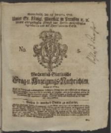 Wochentlich-Stettinische Frag- und Anzeigungs-Nachrichten. 1758 No. 5 + Anhang