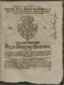 Wochentlich-Stettinische Frag- und Anzeigungs-Nachrichten. 1758 No. 6