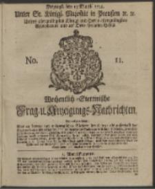 Wochentlich-Stettinische Frag- und Anzeigungs-Nachrichten. 1744 No. 11