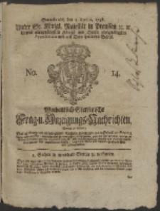Wochentlich-Stettinische Frag- und Anzeigungs-Nachrichten. 1758 No. 14 + Anhang