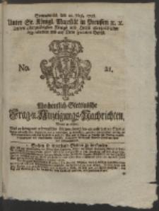 Wochentlich-Stettinische Frag- und Anzeigungs-Nachrichten. 1758 No. 21 + Anhang