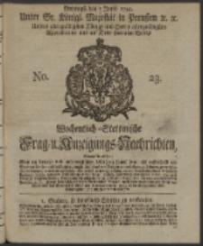 Wochentlich-Stettinische Frag- und Anzeigungs-Nachrichten. 1744 No. 23
