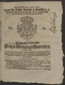 Wochentlich-Stettinische Frag- und Anzeigungs-Nachrichten. 1758 No. 23 + Anhang