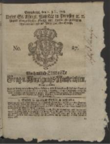 Wochentlich-Stettinische Frag- und Anzeigungs-Nachrichten. 1758 No. 27 + Anhang