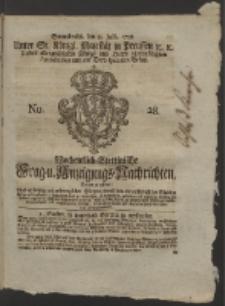 Wochentlich-Stettinische Frag- und Anzeigungs-Nachrichten. 1758 No. 28 + Anhang