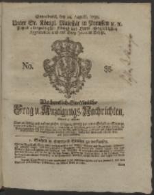 Wochentlich-Stettinische Frag- und Anzeigungs-Nachrichten. 1758 No. 35