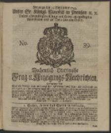 Wochentlich-Stettinische Frag- und Anzeigungs-Nachrichten. 1744 No. 39