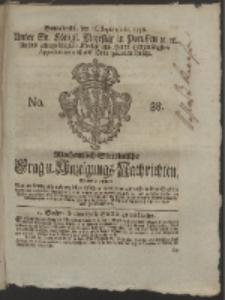 Wochentlich-Stettinische Frag- und Anzeigungs-Nachrichten. 1758 No. 38
