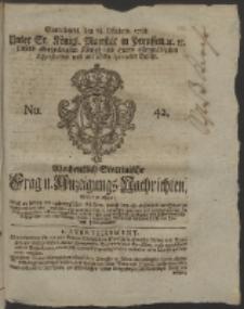 Wochentlich-Stettinische Frag- und Anzeigungs-Nachrichten. 1758 No. 42