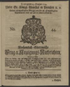 Wochentlich-Stettinische Frag- und Anzeigungs-Nachrichten. 1744 No. 44