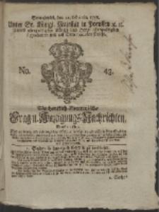 Wochentlich-Stettinische Frag- und Anzeigungs-Nachrichten. 1758 No. 43
