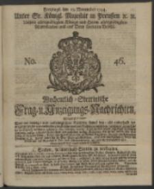 Wochentlich-Stettinische Frag- und Anzeigungs-Nachrichten. 1744 No. 46