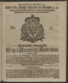 Wochentlich-Stettinische Frag- und Anzeigungs-Nachrichten. 1744 No. 51