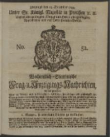 Wochentlich-Stettinische Frag- und Anzeigungs-Nachrichten. 1744 No. 52