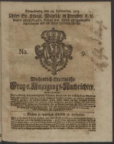 Wochentlich-Stettinische Frag- und Anzeigungs-Nachrichten. 1753 No. 9 + Anhang