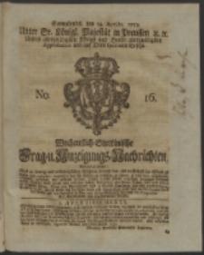 Wochentlich-Stettinische Frag- und Anzeigungs-Nachrichten. 1753 No. 16 + Anhang