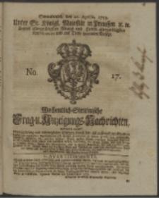 Wochentlich-Stettinische Frag- und Anzeigungs-Nachrichten. 1753 No. 17 + Anhang